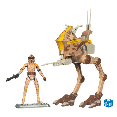 Star Wars The Clone Wars AT-RT with ARF Trooper Boil
