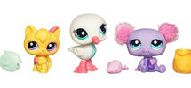 LITTLEST PET SHOP CUTEST PETS Seagull, Cat and Bear 3-Pack