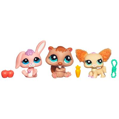 LITTLEST PET SHOP CUTEST PETS Bunny, Chihuahua and Beaver 3-Pack
