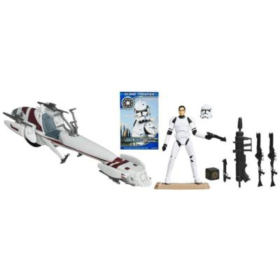 STAR WARS BARC SPEEDER Vehicle with CLONE TROOPER Figure