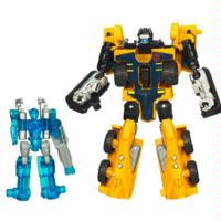 TRANSFORMERS POWER CORE COMBINERS: HUFFER with CALIBURST