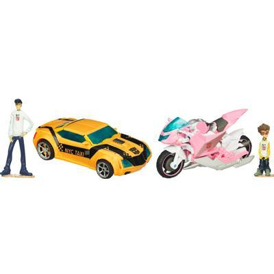 TRANSFORMERS PRIME BUMBLEBEE and ARCEE Set