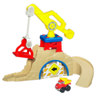 TONKA CHUCK & FRIENDS FOLD 'N GO CONSTRUCTION QUARRY Playset
