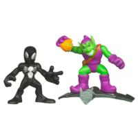 Marvel Super Hero Squad: Black Costume Spider-Man and Green Goblin