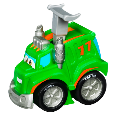 TONKA CHUCK & FRIENDS RACIN' ROWDY THE GARBAGE TRUCK Vehicle