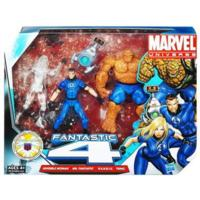 MARVEL Universe FANTASTIC 4 THING, INVISIBLE WOMAN, MR. FANTASTIC and H.E.R.B.I.E. Set