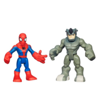 Playskool Heroes Marvel Super Hero Adventures Spider-Man and Rhino Figures