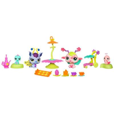LITTLEST PET SHOP FAIRIES GLISTENING GARDEN SPELLBOUND CELEBRATION Playset
