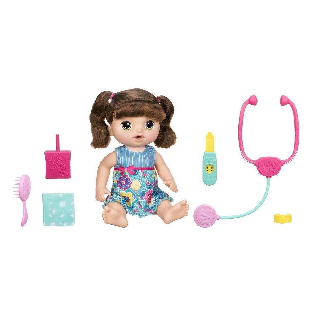 Baby Alive Sweet Tears Baby - Brown Straight Hair