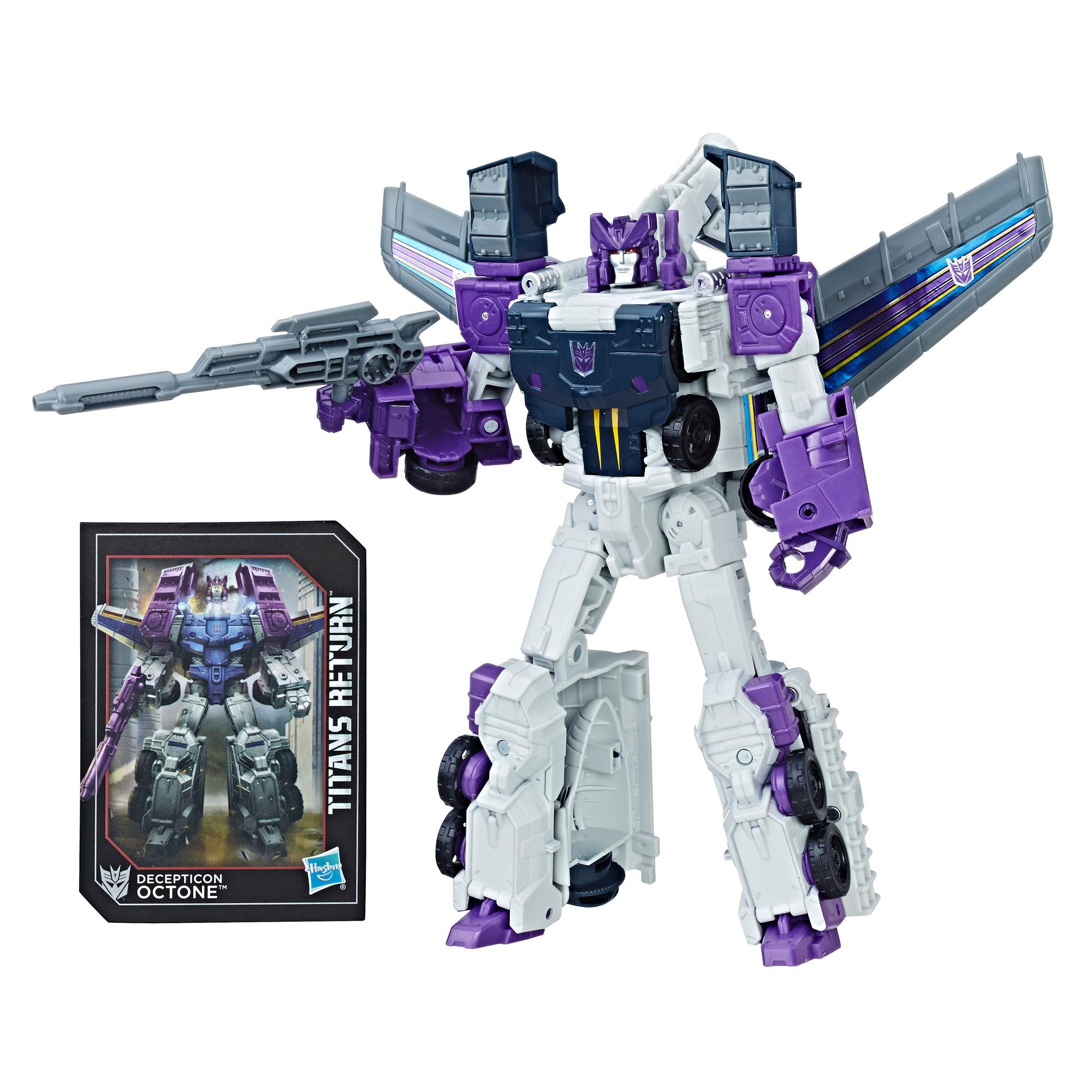 Transformers Generations Titans Return Voyager Decepticon Octone and Murk