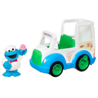 PLAYSKOOL SESAME STREET COOKIE MONSTER ICE CREAM TRUCK
