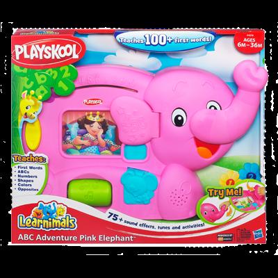 Playskool Learnimals ABC Adventure Pink Elephant