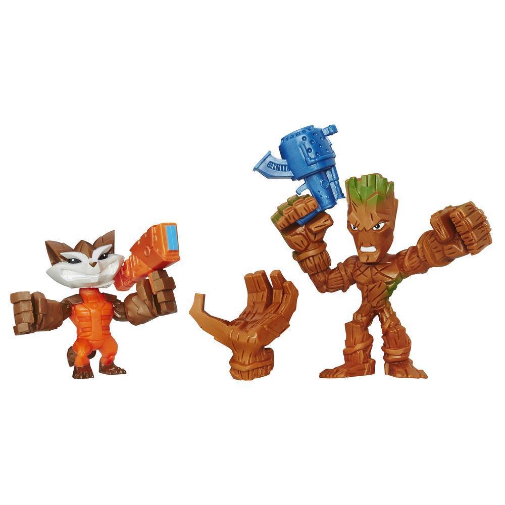 Marvel Super Hero Mashers Micro Groot and Rocket Raccoon