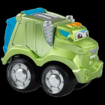 TONKA CHUCK & FRIENDS ROWDY THE GARBAGE TRUCK Die Cast Metal Truck