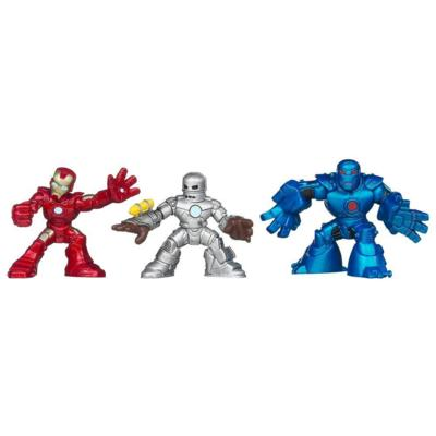 MARVEL IRON MAN 3 Superhero Squad BATTLE VAULT 3-Pack