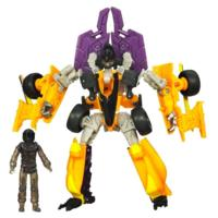 TRANSFORMERS DARK OF THE MOON MECHTECH HUMAN ALIANCE DECEPTICON DRAG STRIP and Master Disaster