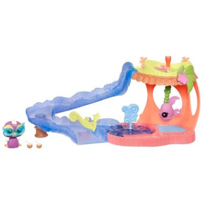 LITTLEST PET SHOP WALKABLES SLIDE 'N DIVE LAGOON Playset