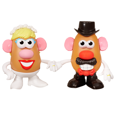 PLAYSKOOL MR. & MRS. POTATO HEAD 60th Anniversary MASHLY IN LOVE Set
