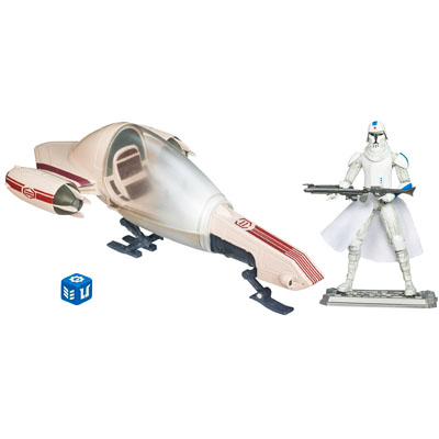Star Wars The Clone Wars Freeco Speeder with Clone Trooper