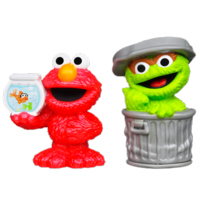 PLAYSKOOL SESAME STREET Oscar & Elmo Figures