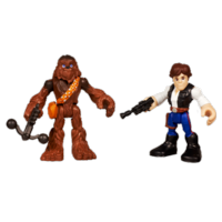 STAR WARS Jedi Force PLAYSKOOL HEROES HAN SOLO & CHEWBACCA