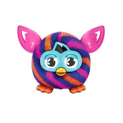 Furby Furbling Creature (Orange and Blue Diagonal Stripes)