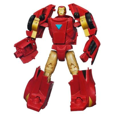 MARVEL THE AVENGERS TRANSFORMERS MECH MACHINES Concept Series IRON MAN to ARC Racer Figure