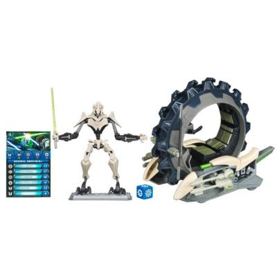 STAR WARS THE CLONE WARS ATTACK CYCLE with GENERAL GRIEVOUS Set