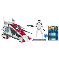 STAR WARS THE CLONE WARS REPUBLIC SCOUT SPEEDER with ARF TROOPER Set