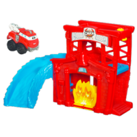 TONKA CHUCK & FRIENDS Fold 'n Go FIRE STATION SPLASH Playset