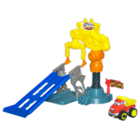 TONKA CHUCK & FRIENDS POWER PLAYARD CRAZY CRANE STUNT Playset