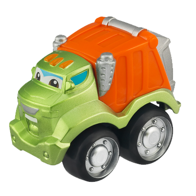 TONKA CHUCK & FRIENDS Playmat with ROWDY THE GARBAGE TRUCK Die Cast Vehicle