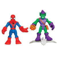 MARVEL Spider-Man Adventures PLAYSKOOL HEROES SPIDER-MAN and GREEN GOBLIN 2-Pack
