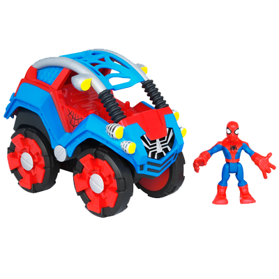 MARVEL Spider-Man Adventures PLAYSKOOL HEROES FLIP-OUT STUNT BUGGY with SPIDER-MAN Vehicle