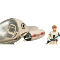 Star Wars The Clone Wars Freeco Speeder with Obi-Wan Kenobi