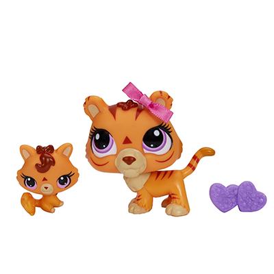 Littlest Pet Shop Tiger and Baby Tiger Pets