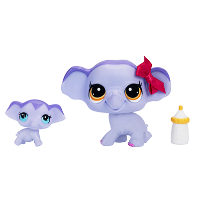 Littlest Pet Shop Elephant and Baby
