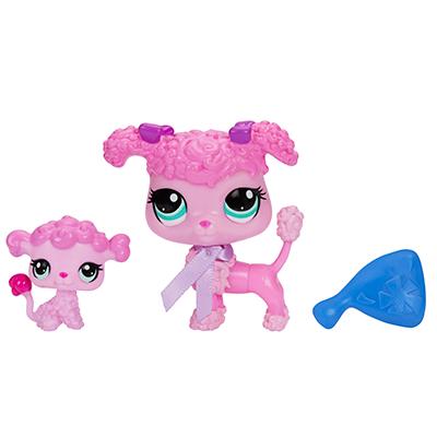 Littlest Pet Shop Poodle and Baby Poodle Pets