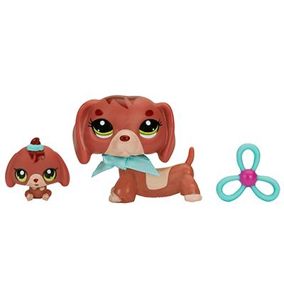 Littlest Pet Shop Dachshund and Baby Dachshund Pets