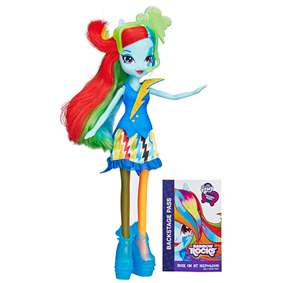 My Little Pony Equestria Girls Neon Rainbow Rocks Rainbow Dash Doll