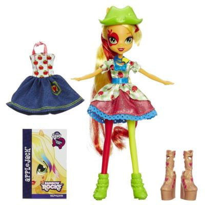My Little Pony Equestria Girls Rainbow Rocks Applejack Doll with Fashions