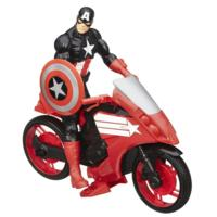 Marvel Avengers Titan Hero Series Captain America Figure with Defender Cycle Vehicle
