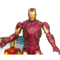 Iron Man 2 Movie Series: Iron Man Mark VI with Power-Up Glow
