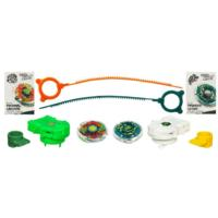 BEYBLADE METAL MASTERS SOLID IRON SHOWDOWN THERMAL LACERTA THUNDER LEONE 2-Pack