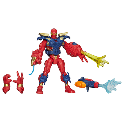 Marvel super hero mashers electronic iron spider figure vehicles for