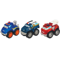 TONKA CHUCK & FRIENDS TWIST TRAX Rescue Trucks 3-Pack