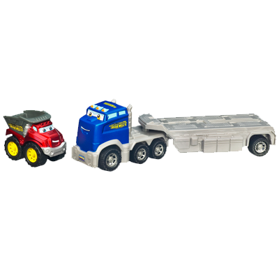 TONKA CHUCK & FRIENDS TWIST TRAX Construction Flatbed with Die Cast Truck Set