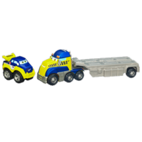 TONKA CHUCK & FRIENDS TWIST TRAX Racing Flatbed with Die Cast Truck Set