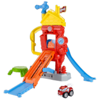 TONKA CHUCK & FRIENDS TWIST TRAX FIRE FUNHOUSE Playset with BOOMER THE FIRE TRUCK
