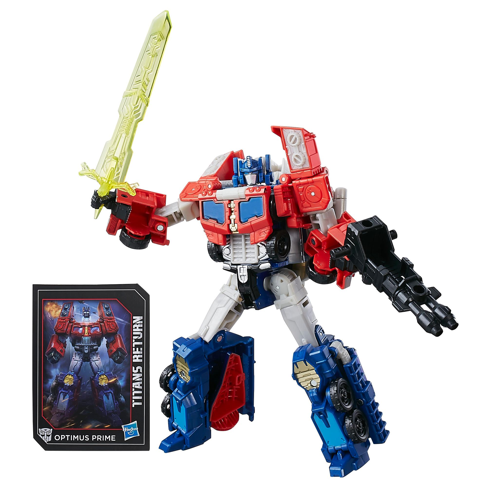 Transformers Generations Titans Return Voyager Class Optimus Prime and Diac